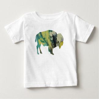 Het art. van de bizon baby t shirts