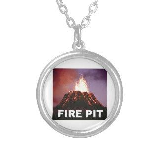 het art. van de brandkuil zilver vergulden ketting