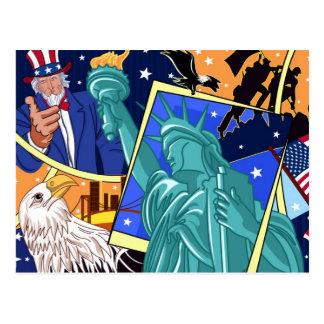 Het Art. van de Collage van de Dag van de Briefkaart