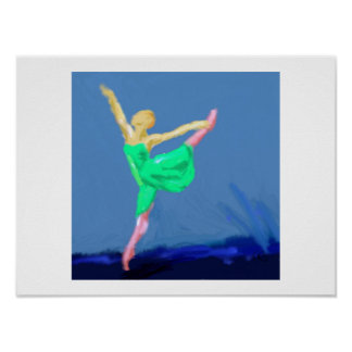 Het Art. van de Dans van de ballerina Poster