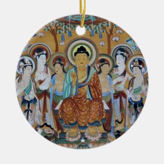 Het Art. van de Holen van Boedha en van Rond Keramisch Ornament