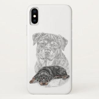 Het Art. van de Hond van Rottweiler iPhone X Hoesje