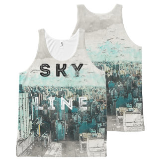 Het Art. van de horizon All-Over-Print Tank Top
