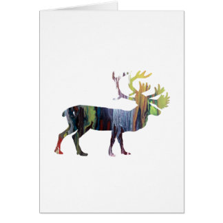 Het art. van de kariboe wenskaart