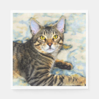 Het Art. van de Kat van Bengalen Papieren Servet