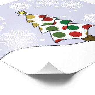 Het Art. van de Kerstboom van Polkadot Foto Afdruk