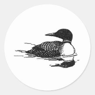 Het Art. van de Lijn van de duiker Ronde Sticker