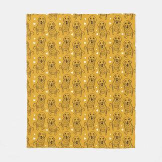 Het Art. van de Lijn van het golden retriever Fleece Deken