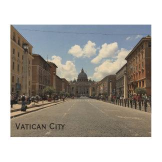 Het Art. van de Muur van de Stad van Vatikaan Hout Afdruk