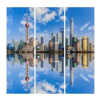 Het Art. van de Muur van de Triptiek van Shanghai Drieluik