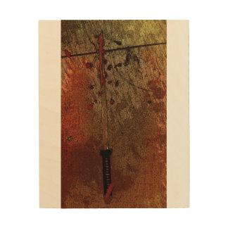 Het Art. van de Muur van het Zwaard van samoeraien Hout Afdruk