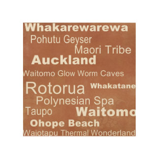 Het Art. van de Muur van Nieuw Zeeland Hout Afdruk