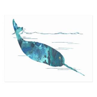 Het Art. van de narwal Briefkaart