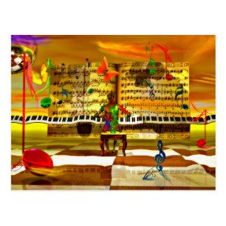 Het art. van de piano briefkaart