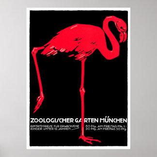 Het Art. van de Reis van de Flamingo van de Tuin Poster