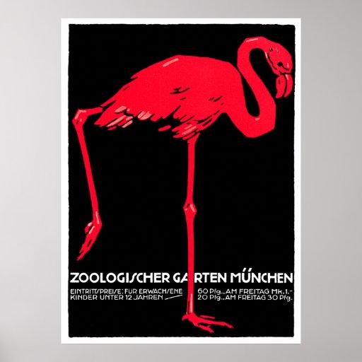 Het Art. van de Reis van de Flamingo van de Tuin v Afdruk