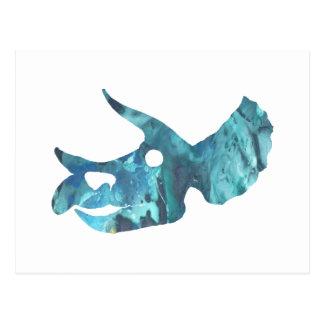 Het Art. van de Schedel van Triceratops Briefkaart