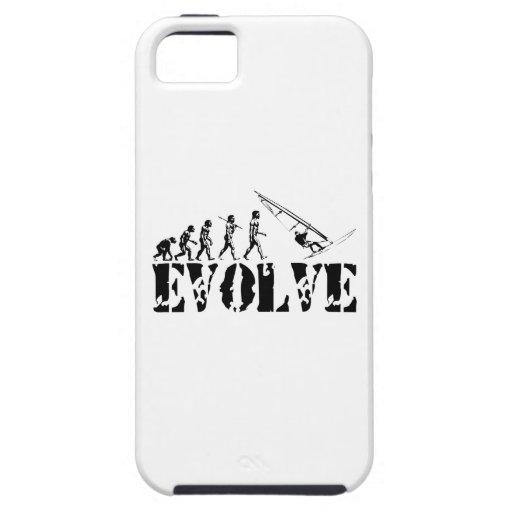 Het Art. van de Sport van de Evolutie van Windsurf iPhone 5 Case-Mate Hoesje