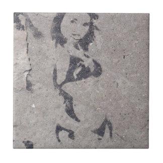 Het Art. van de Straat van het Meisje van de bikin Tegeltje
