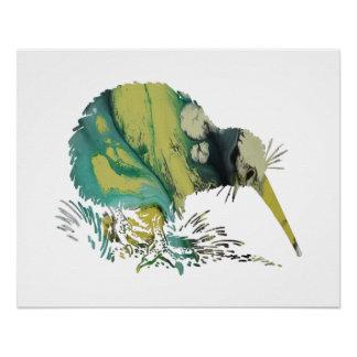 Het Art. van de Vogel van de kiwi Poster