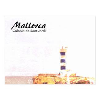 Het Art. van de Vuurtoren van Mallorca Colonia DE Briefkaart