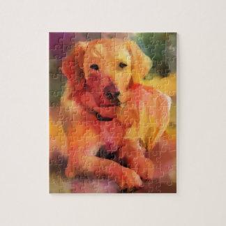 Het Art. van de Waterverf van de Hond van het Puzzel