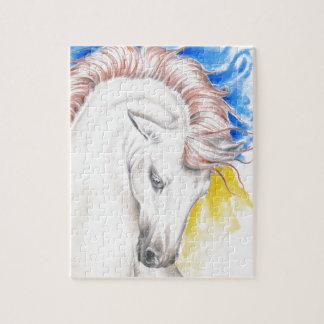 Het Art. van de Waterverf van het paard Legpuzzel