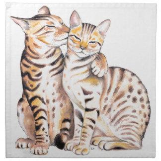 Het Art. van de Waterverf van twee Katten van Servet