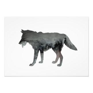 Het art. van de wolf foto afdrukken