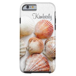 Het Art. van de Zeeschelpen van het monogram Tough iPhone 6 Hoesje