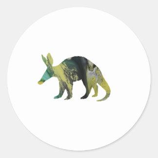Het Art. van het aardvarken Ronde Sticker