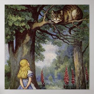 Het Art. van het Canvas van de Kat van Cheshire Poster