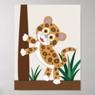 Het Art. van het Kinderdagverblijf van Jaguar Poster