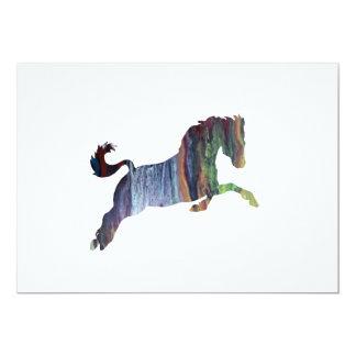 Het Art. van het paard 12,7x17,8 Uitnodiging Kaart