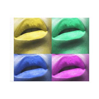Het Art. van het Pop-art van lippen Canvas Afdrukken