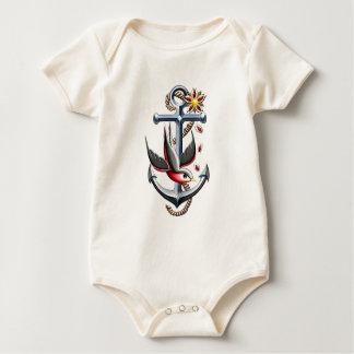 Het Art. van het Tattoo van de vogel en van het Baby Shirt