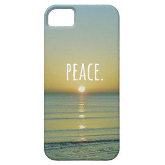 Het Art. van Word van het Strand van de vrede Barely There iPhone 5 Hoesje