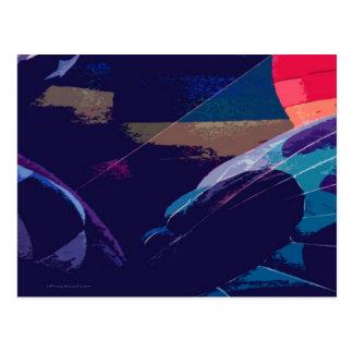 Het artistieke Briefkaart van de Ballon van de