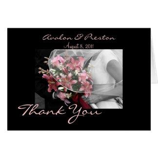 Het artistieke Bruids Huwelijk van het Paar dankt Briefkaarten 0