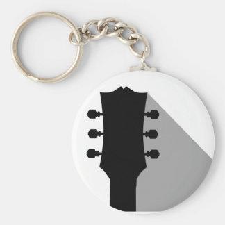 Het Asblok van de gitaar met Schaduw Basic Ronde Button Sleutelhanger