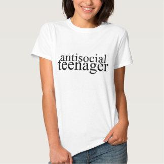 Het asociale Grafische T-shirt van de Tiener
