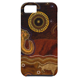 Het Australische Inheemse Ontwerp van de Kunst Tough iPhone 5 Hoesje