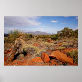 Het Australische Poster van de Woestijn van het
