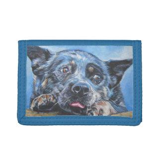 Het Australische schilderen van de Hond van het Ve Drievoud Portemonnee