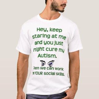 Het autisme/houdt starend t shirt