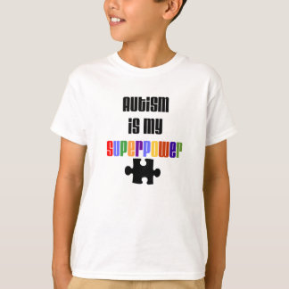 Het autisme is mijn T-shirt van de Grootmacht