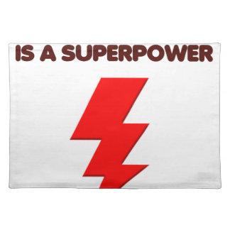 Het autisme is super macht, kinderen, kind, let op placemat