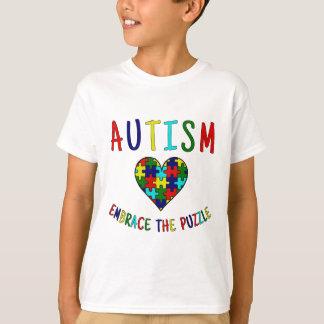 Het autisme omhelst het Raadsel T Shirt