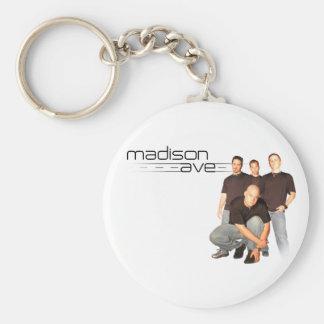 Het Ave Keychain van Madison Basic Ronde Button Sleutelhanger