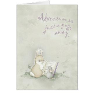 Het avontuur is enkel weg een pagina kaart